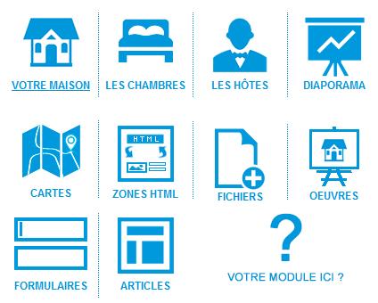 Création de sites - Des modules spécifiques pour chaque métier