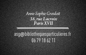 carte de visite Anne-Sophie Grosdoit
